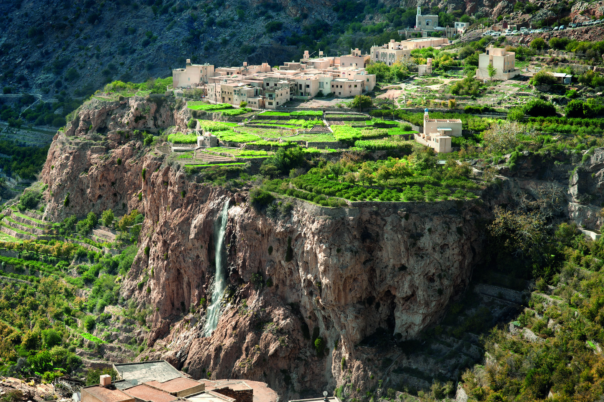 image of jebel akhdar green mountains of oman